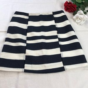 Loft Navy and White Striped Skirt 6